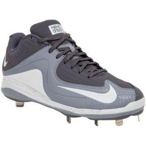 Nike Air MVP Pro 2 Metal Baseball Cleats Grey 16